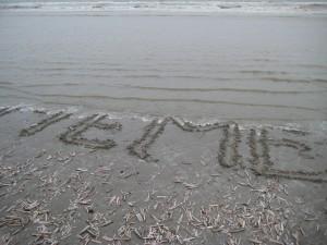 letters aan zee